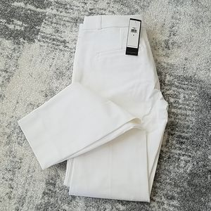 White Banana Republic Sloane ankle pants